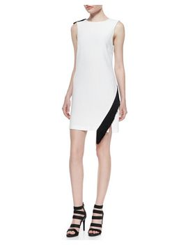 lottman-woven-crepe-sleeveless-dress by alc