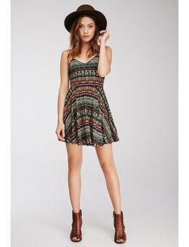 tribal-print-fit-&-flare-dress by forever-21
