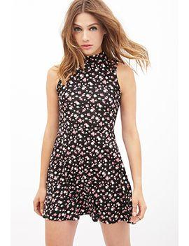 mock-neck-floral-dress by forever-21