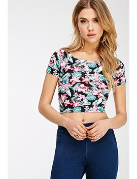 tropical-floral-crop-top by forever-21