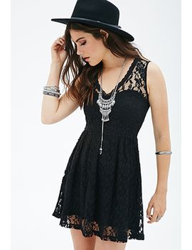 fit-&-flare-lace-dress by forever-21