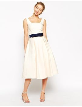 chi-chi-london-debutant-prom-skater-dress-with-contrast-belt by chi-chi-london