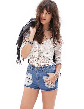 destroyed-denim-cutoffs by forever-21