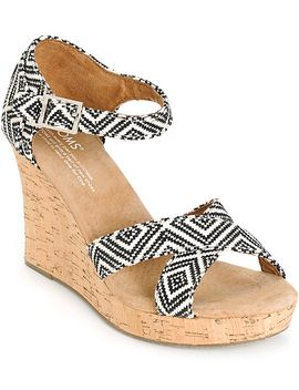 toms-woven-diamond-womens-strappy-wedges by toms-shoes