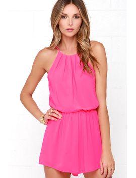 borrow-a-kiss-hot-pink-romper by lush