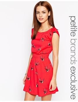 new-look-petite-printed-turn-back-sleeve-dress by new-look-petite