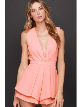its-a-kind-of-magic-peach-romper by lulus