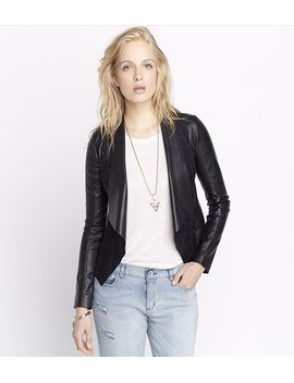 faux-leather-and-suede-jacket by dynamite
