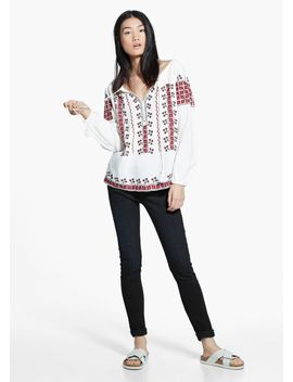 ethnic-embroidery-blouse by mango