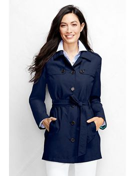 womens-harbor-cropped-trench-coat by lands-end