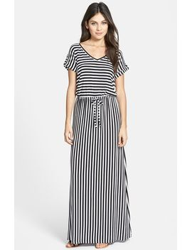 roll-sleeve-v-neck-maxi-dress by caslon®
