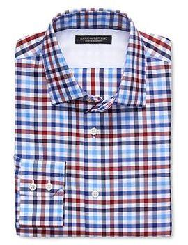 slim-fit-non-iron-tri-gingham-shirt by banana-repbulic
