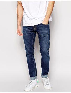 nudie-jeans-tight-long-john-skinny-fit-stretch-indigo-vision by nudie