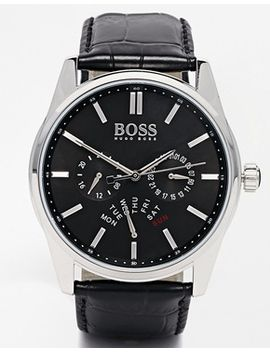 boss-by-hugo-boss-1513124-chronograph-leather-strap-watch by boss-by-hugo-boss