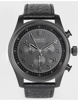 barbour-international-leather-strap-watch by barbour