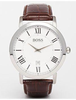 hugo-boss-brown-leather-strap-watch-1513136 by hugo-boss