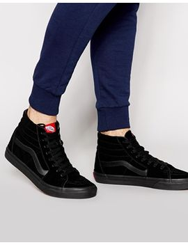 vans-sk8-hi-suede-trainers-in-black-vd5ibka by vans