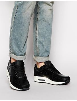 nike-air-max-1-premium-leather-trainers by nike