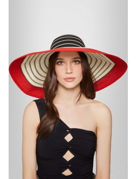 wide-brim-striped-woven-straw-sunhat by eugenia-kim