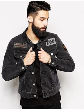lee-denim-jacket-by-orjan-andersson-slim-fit-rider-patch-black by lee
