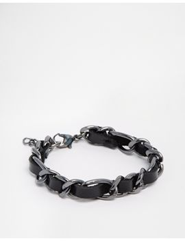 asos-leather-and-chain-woven-bracelet by asos