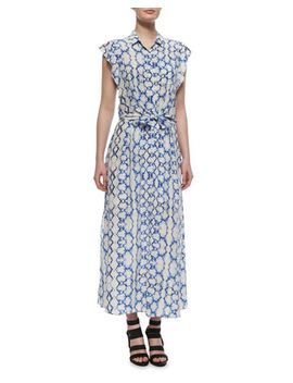 printed-flutter-sleeve-maxi-dress by rebecca-taylor