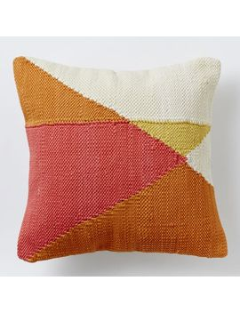 chindi-colorblock-pillow-cover---apricot by west-elm