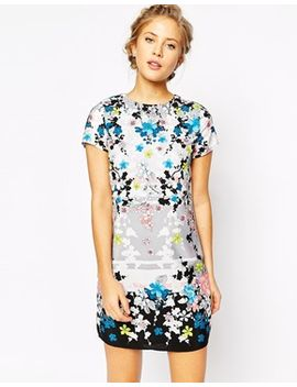 oasis-blossom-placement-print-shift-dress by oasis