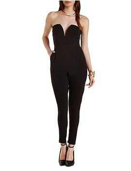 plunging-sweetheart-strapless-jumpsuit by charlotte-russe