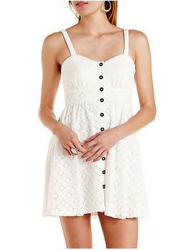 button-up-crocheted-lace-dress by charlotte-russe