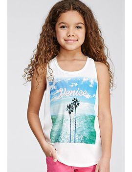 venice-graphic-racerback-tank-(kids) by forever-21