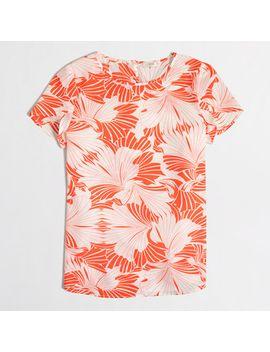 printed-petal-sleeve-top by jcrew