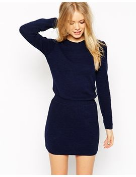 asos-jumper-dress-with-elasticated-waistband by asos-collection