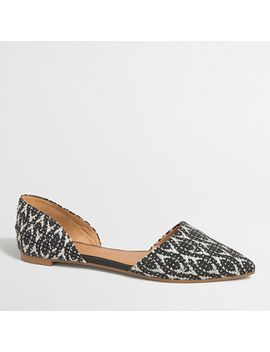 graphic-woven-dorsay-flats by jcrew