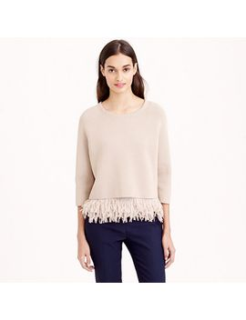 collection-chiffon-fringe-sweater by jcrew