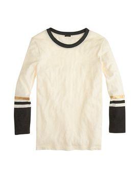 stripe-sleeve-t-shirt by jcrew