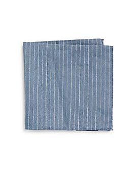 linen-&-silk-stripe-pocket-square by armani-collezioni