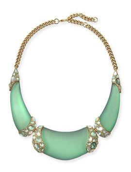vert-deau-three-part-encrusted-lucite-bib-necklace by alexis-bittar