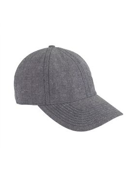 chambray-baseball-cap by jcrew