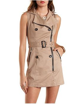 double-breasted-zip-up-trench-dress by charlotte-russe