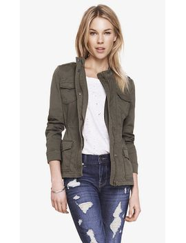 stretch-cotton-military-jacket by express