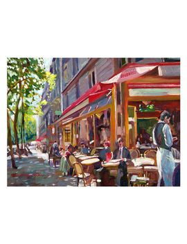 paris-cafe-by-david-lloyd-glover-painting-print-on-canvas by trademark-art