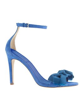 fabric-bow-suede-high-heel-sandals by jcrew