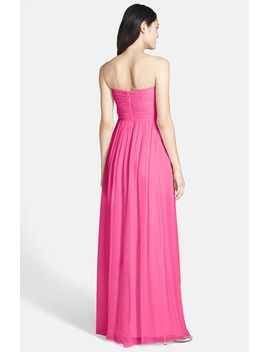 laura-ruched-sweetheart-silk-chiffon-gown by donna-morgan