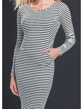 pick-pockets-striped-midi-dress by gojane