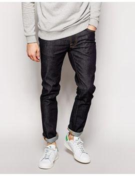 nudie-slim-tapered-fit-jeans-tape-ted-in-16-dip-wash by nudie