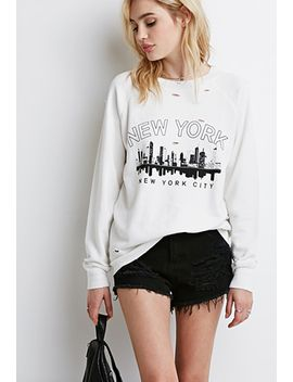new-york-distressed-sweatshirt by forever-21