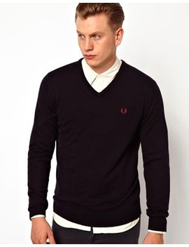 fred-perry-jumper-with-v-neck by fred-perry