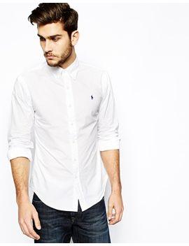 polo-ralph-lauren-shirt-in-poplin-in-slim-fit by polo-ralph-lauren