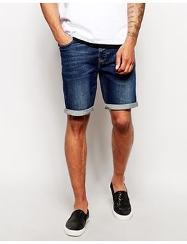 asos-denim-shorts-in-skinny-fit-mid-length by asos
